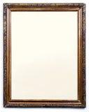 Пустая старая деревянная картинная рамка Стоковое Изображение
