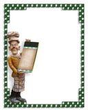 пустая статуя меню шеф-повара Стоковые Фото