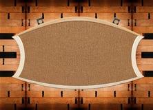 пустая стена пробочки доски деревянная Стоковое Фото