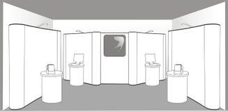 пустая стойка выставки Бесплатная Иллюстрация