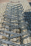 Пустая стоянка автомобилей для велосипедов Стоковое Изображение
