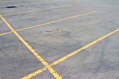 пустая стоянка автомобилей серии Стоковое Изображение RF