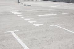 Пустая стоянка автомобилей для автомобилей Стоковое Изображение RF