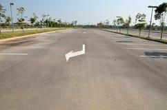 Пустая стоянка автомобилей Стоковое Изображение RF