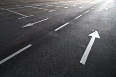 пустая стоянка автомобилей Стоковая Фотография
