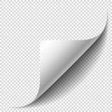 Пустая страница с завитой угловой и мягкой тенью Угол листа иллюстрация вектора