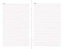 пустая страница тетради Стоковые Изображения