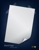 пустая страница Стоковое фото RF