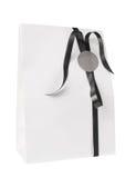Пустая сумка подарка белой бумаги стоковое фото rf
