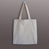 Пустая сумка tote хлопка, модель-макет дизайна Стоковые Изображения