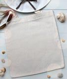 Пустая сумка tote хлопка, модель-макет дизайна Стоковые Фото