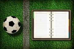 пустая тетрадь футбола Стоковое фото RF