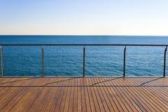 Пустая точка зрения океана Стоковые Изображения RF
