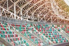Пустая трибуна стадиона Стоковое фото RF