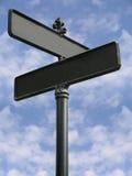 пустая улица знака Стоковые Фотографии RF