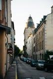 Пустая улица старого городка Лиможа Стоковые Изображения