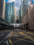 пустая улица Hong Kong стоковые фотографии rf