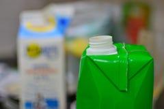 пустая упаковка соков стоковая фотография rf