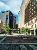 Пустая улица в городском St Paul Стоковая Фотография RF