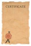 пустая форма сертификата старая Стоковые Фото