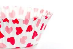 Пустая чашка булочки на белизне Стоковое Фото