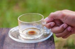 Пустая чашка кофе Стоковое Фото