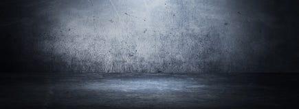 Пустая черная комната студии Темная предпосылка Абстрактная темная пустая текстура комнаты студии стоковые фотографии rf
