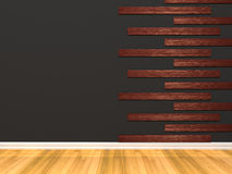 Пустая черная комната Стоковое Изображение