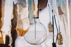 Пустая электрическая лампочка Стоковая Фотография RF