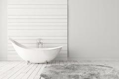 Пустая яркая ванная комната Стоковое Изображение RF