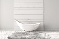 Пустая яркая ванная комната Стоковые Фото