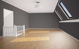 Пустая яркая комната Стоковое Изображение