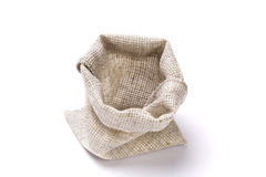 Пустая linen сумка Стоковая Фотография