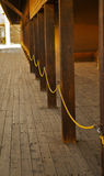 пустая roped линия Стоковые Фото