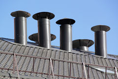 пустите крышу по трубам Стоковая Фотография