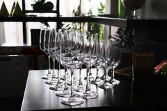 пустое вино стекел Стоковые Изображения