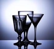 пустое вино стекел Стоковые Изображения RF