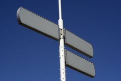пустое движение знаков Стоковая Фотография RF