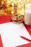 пустое желание письма рождества детей Стоковые Изображения