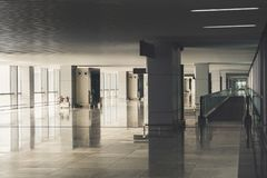 Пустое здание авиапорта Стоковая Фотография