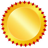 пустое золотистое медаль Стоковое Фото