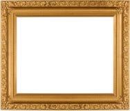 пустое золото рамки стоковое изображение