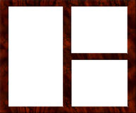 пустое изображение рамки деревянное Стоковые Фотографии RF