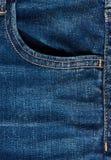 Пустое карманн голубых джинсов Стоковые Изображения RF