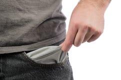 Пустое карманн Стоковое фото RF