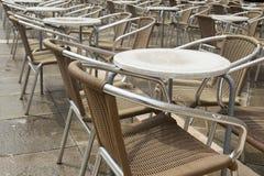 Пустое кафе в Венеции Стоковые Изображения