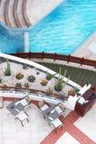 Пустое кафе poolside Стоковое Изображение
