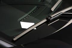 пустое лобовое стекло примечания Стоковое фото RF