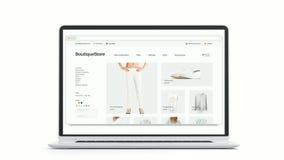 Пустое место моды браузера на модель-макете adaptivity ноутбука и телефона акции видеоматериалы