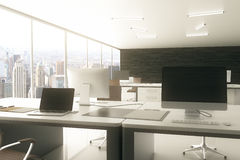 пустое место для работы бумажных канцелярских принадлежностей офиса Стоковое Изображение